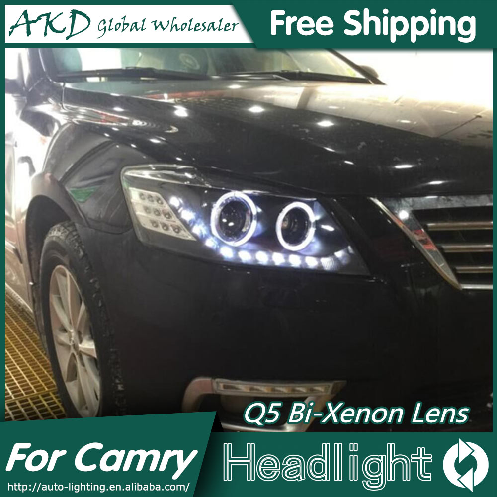 AKD Car Styling for Toyota Camry Headlights 2009-2012 Camry LED Headlight DRL Bi Xenon Lens High Low Beam Parking Fog Lamp brand new original replacement chorme housing halogen headlights for toyota camry 2007 2009
