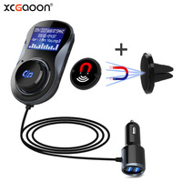 XCGaoon BC30 FM Transmitter Modulator Handsfree Bluetooth Car Kit Support TF Card MP3 Play Car Audio Adapter 3.4A Car Charger