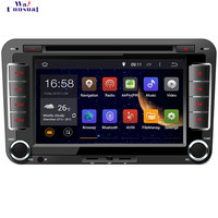 WANUSUAL 1024*600 7 Inch Octa Core 32G 4G RAM Android 6.0 Car Video Player GPS for VW Tiguan GP for Sharan for Caddy for Polo
