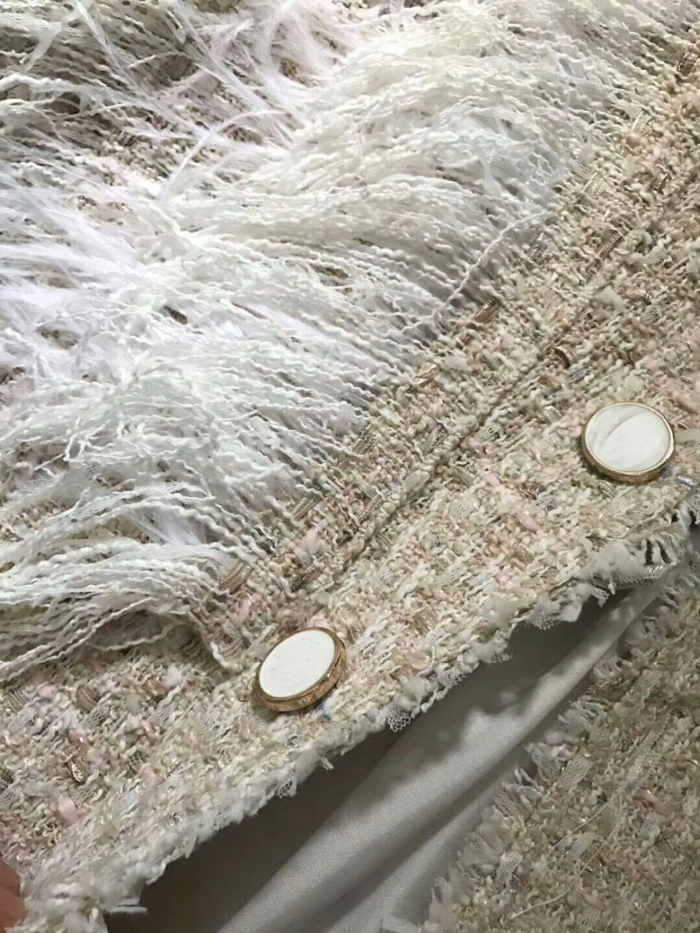 Occasionnel Et Plume Plus Tweed Ensemble Mujer 6xl La Veste Blanc VesteÉlégant Shorts Taille Deux Pièces Ensemble5xl Completo Femmes Incroyable On0XPkwN8