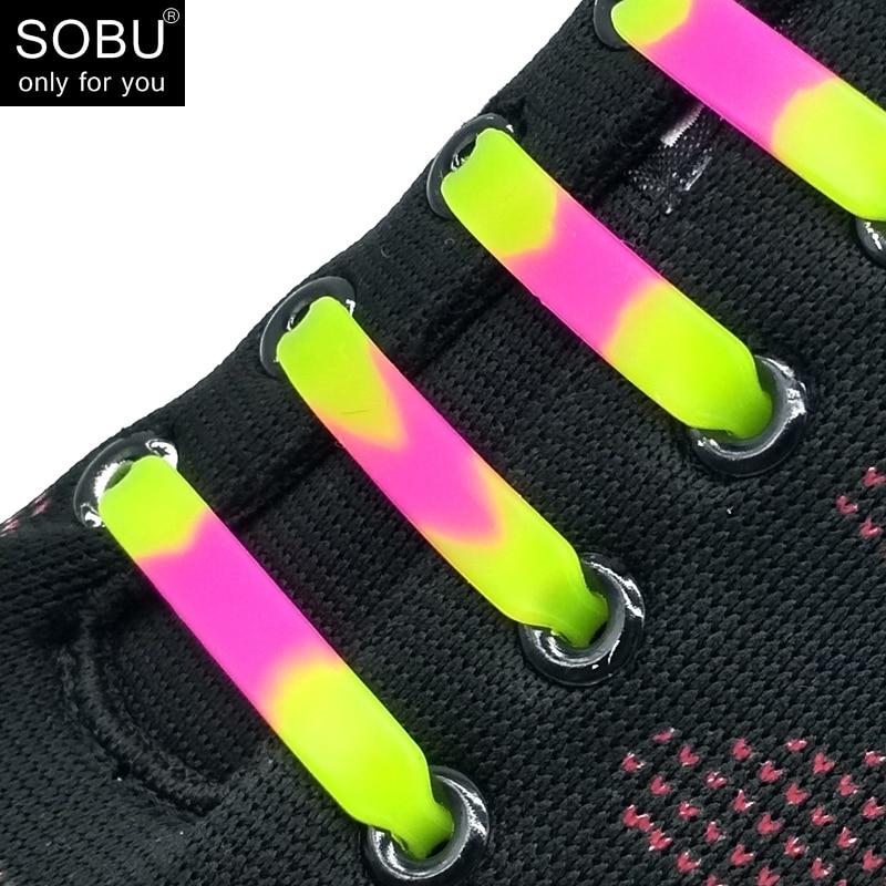 12pcs/lot colorful mixcolor no tie ealstic silicone shoelaces lazy shoe laces N01412pcs/lot colorful mixcolor no tie ealstic silicone shoelaces lazy shoe laces N014