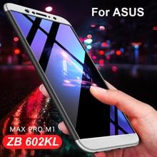 3-in 1 Hybrid 360 Full Cover Hard Case for Asus Zenfone Max Pro M1 ZB602KL Back Matte ZB 602kl