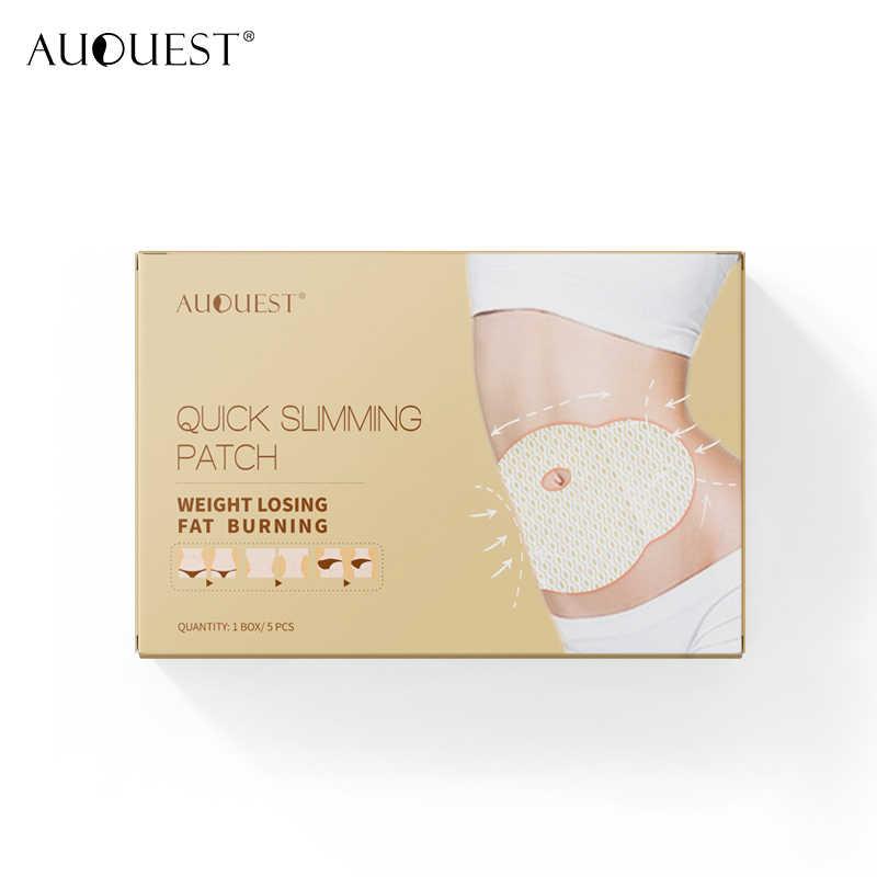 AuQuest ホット販売健康痩身パッチへそ脂肪脚怠惰なペースト減量失う腹部脂肪燃焼ダイエット製品 5 個