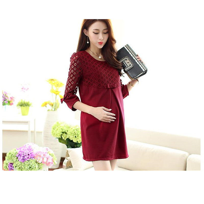 2017 New Spring Women Maternity T-Shirt Lace Nursing Breastfeeding Maternity Clothes  Free Shipping B0059 replacement rc car body shell spare part