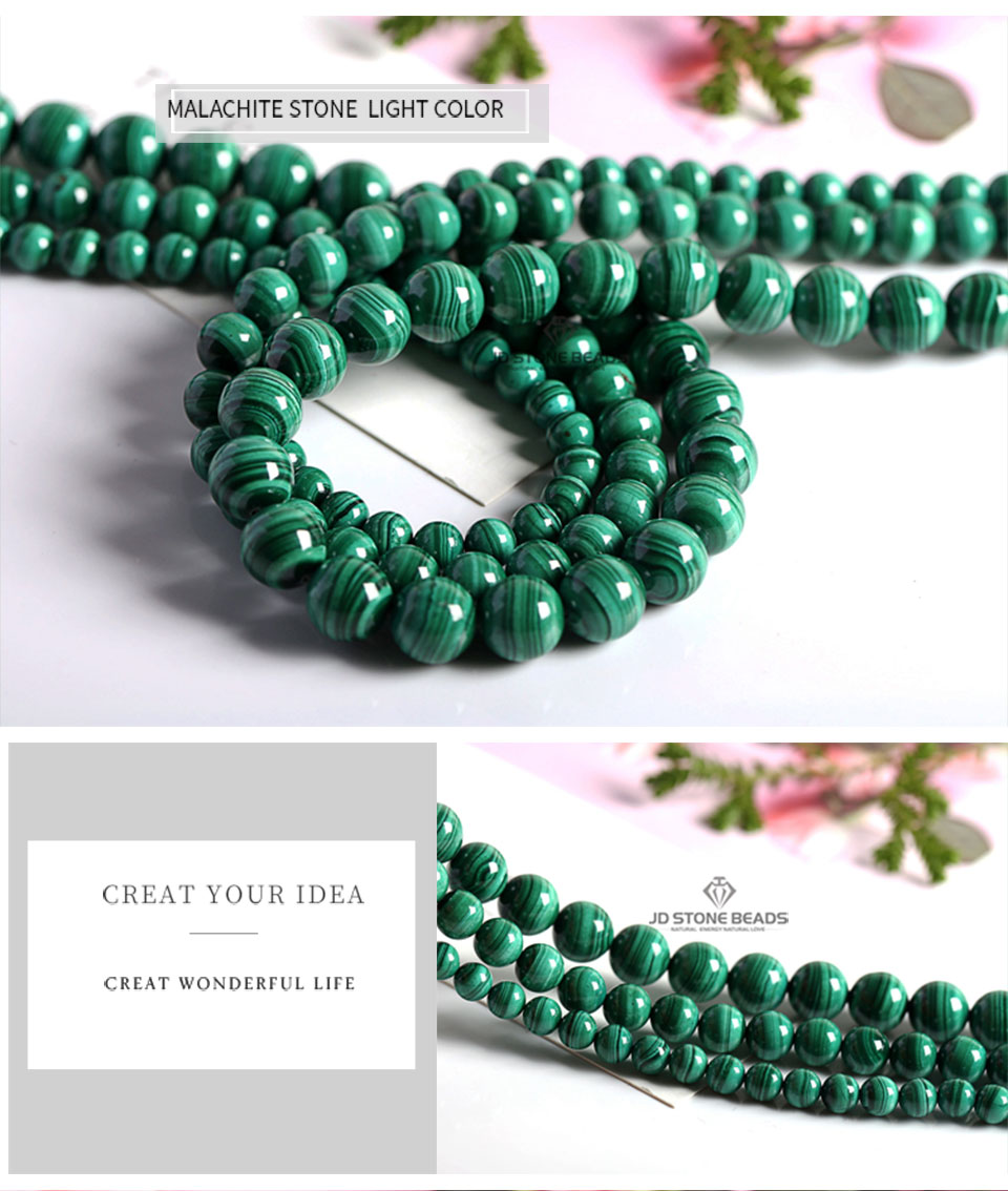 HTB1v.GQXEjrK1RkHFNRq6ySvpXaU Natural Malachite Beads Dark Green Color 4 6 8 10mm Pick Size Semi-precious stones Accessories For Jewelry Making