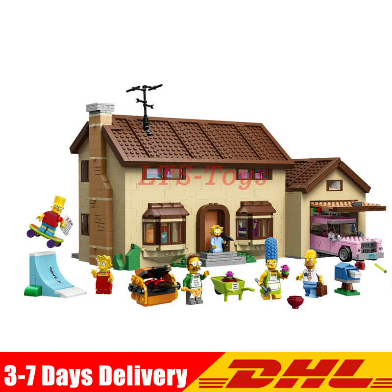 LEPIN 16005 2575Pcs the Simpsons House Model Building Block Bricks Compatible legoing 71006 Boy gift Bart Homer the Kwik-E-Mart цена