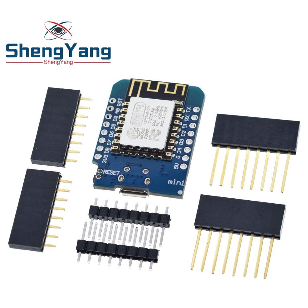 1PCS  ShengYang  D1 Mini - Mini NodeMcu 4M Bytes Lua WIFI Internet Of Things Development Board Based ESP8266 By WeMos