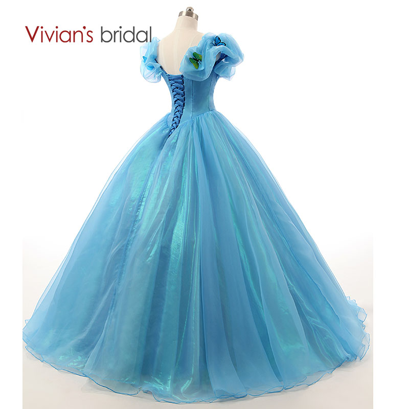 ヾ(^▽^)ノPrincess Wedding Dresses Blue Cinderella Ball Gowns ...