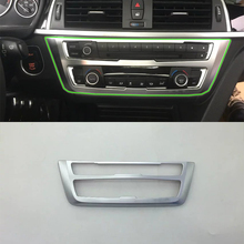 Car Accessories Interior Decoration 1pcs ABS Air Condition Adjust Button Frame Cover Trim For BMW 3 Series 2017 Styling