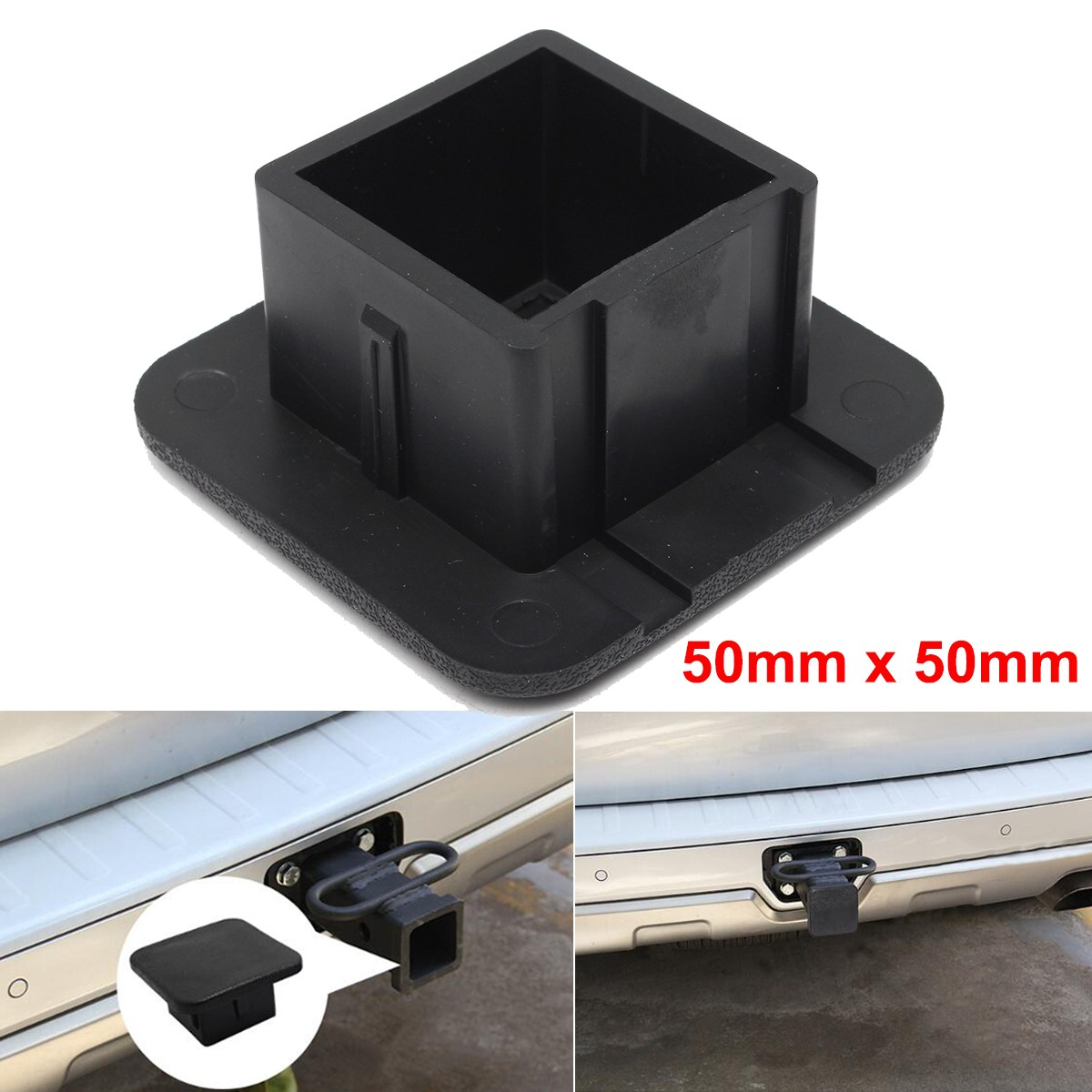 2 inch Trailer Hitch Tube Plug Receiver Cover Dust Protecter for Jeep for Ford for GMC For Toyota ...