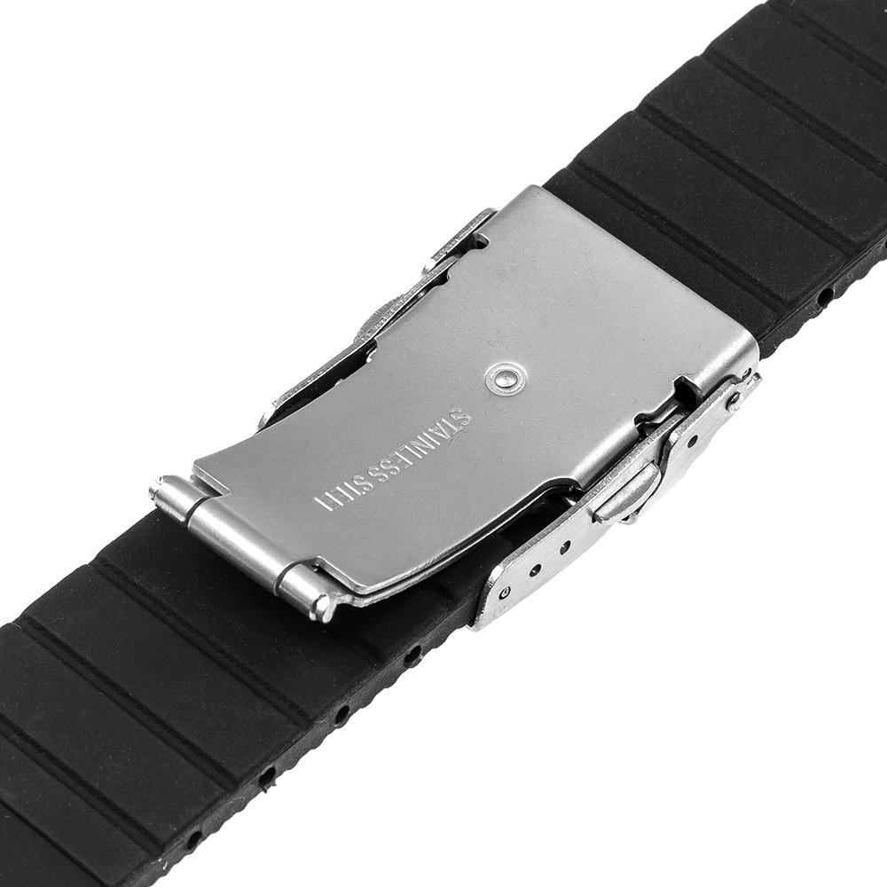 092a133dcb9 Pulseira de Borracha De silicone para Invicta Ernest Borel Bulova Relógio  Banda de Aço Fivela de segurança Correia De Pulso 17 18 19 20 21 22 23 24mm  em ...