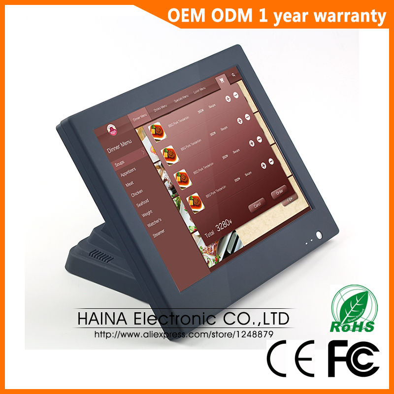 15 All in one Touch Screen PC Desktop Computer for POS Terminal, Computador All in one for Cash Register