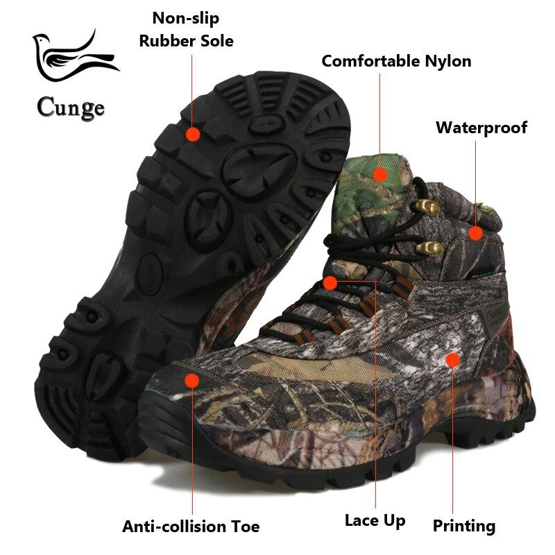 Hommes chaussures de randonnée imperméable à l'eau de haute qualité Force spéciale militaire tactique désert Combat bottines armée travail bottes Camouflage    1