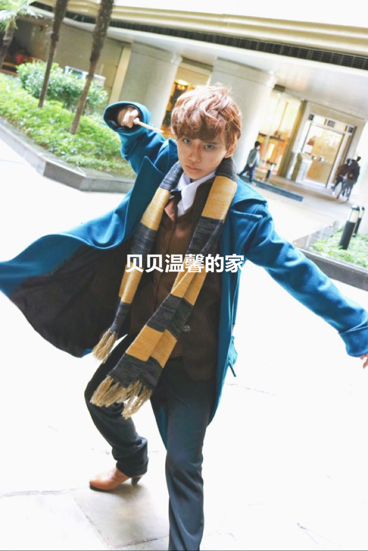 High quality Fantastic Beasts and Where to Find Them Newt Scamande Trench Cosplay Costume Men Suit Party Blazer Winter Coat Vest