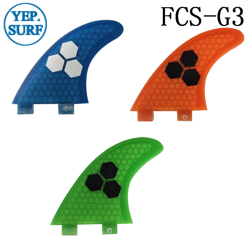 Surf Fins FCS G3 Fin Honeycomb Surfboard Fin 3 color surfing fin Quilhas thruster surf accessories in Surfing from Sports Entertainment