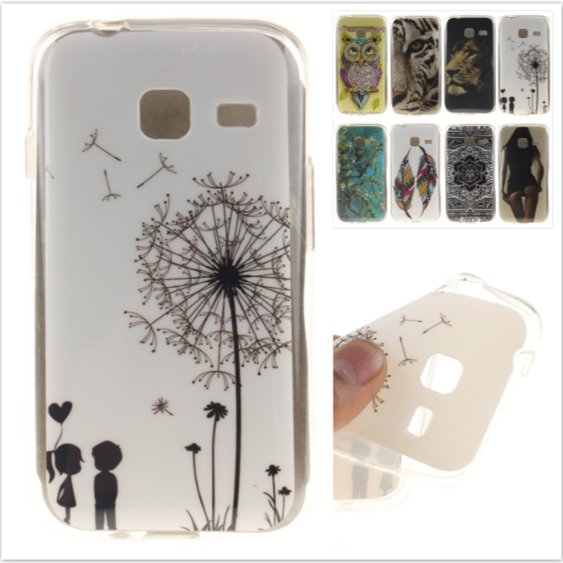Cartoon High Quality Glossy Soft TPU Silicon Protector Owl Tiger Phone Case for Samsung Galaxy J1 Mini J105 J105H J105F
