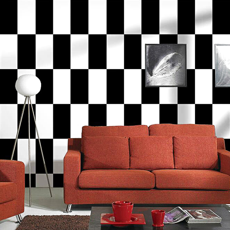 Nordic Moasic Wallpaper Ins TV Background Black and White Lattice Geometric Bedroom Living Room Modern Minimalist Red WallpaperNordic Moasic Wallpaper Ins TV Background Black and White Lattice Geometric Bedroom Living Room Modern Minimalist Red Wallpaper