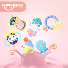 New 5/6pcs Boiling Rattles Baby bite Teethers/Ring Hand Shake Mobile Infant Training Tooth Toddler Bell Kid Toys 2in1 Soft Gift(China)