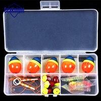 Смешанные Размеры мяч море поплавки для рыбалки оранжево-Float комплекты оснастки набор аксессуаров для рыбалки 0,5 0,8 1,0 1,5 2,0 хорошее качество