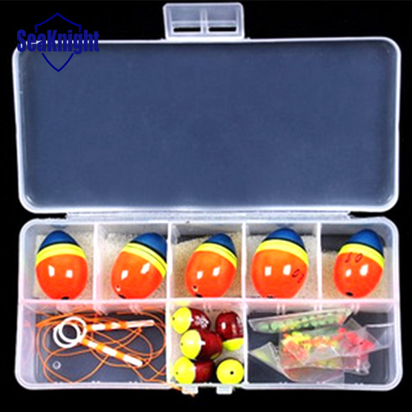 Gemischte Größe Ball Meer schwimmt für angeln Orangered Float kits Snap Box 0,5 0,8 1,0 1,5 2,0 Gute qualität