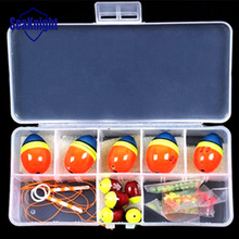 Mixed Size Ball Sea floats for fishing Orangered Float kits Snap Box Fishing Accessories 0.5 0.8 1.0 1.5 2.0 Good Quality