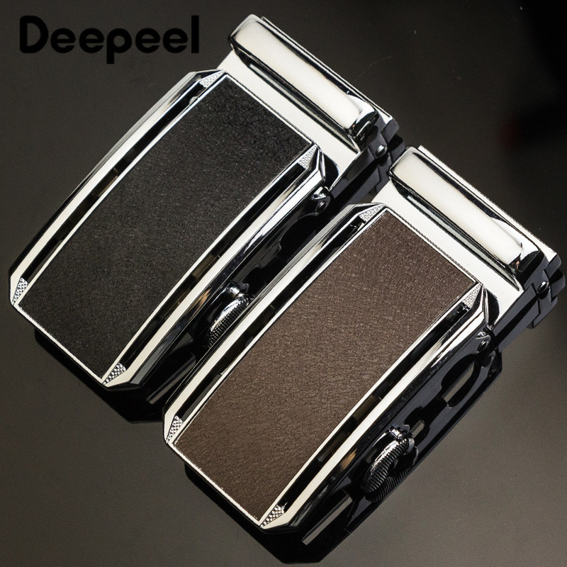 Deepeel 1pc 36mm Fashion Metal Automatic Buckle Belt Buckle Inside Wearing Business Belt Head For 34-35mm Belt DIY Leather Craft