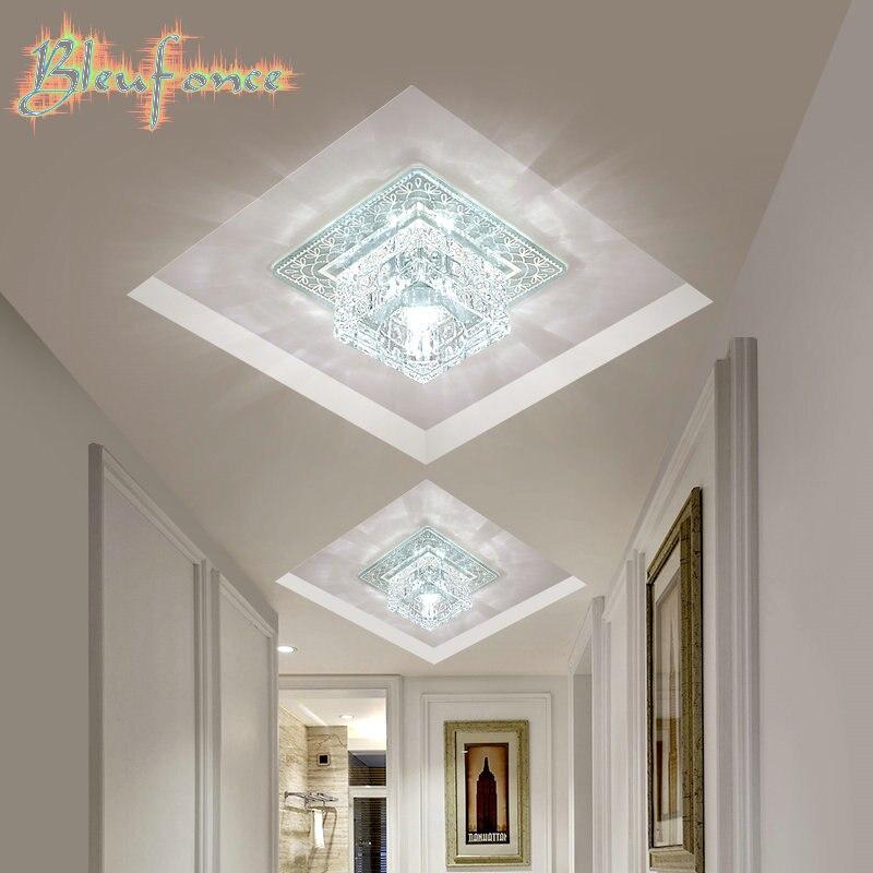 Modern LED Ceiling light Square Crystal Lustres Luminarias Para Sala LED lamps for home aisle corridor