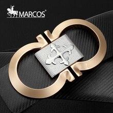 2016 New Cowhide Leather Fashion canvas Belts White Gold Buckle gg Brand Mc Belts for Men Designer Cinturones Hombre