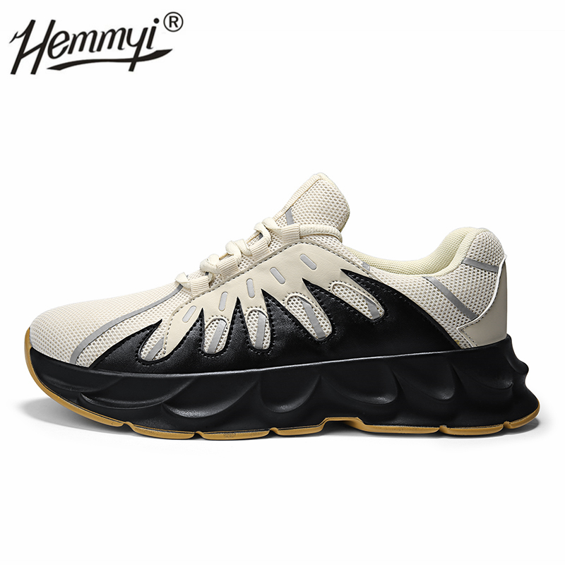 Hemmyi 2019 New Style Men Platform Sneakers Lace-up Jogging Sport Shoes for Men Mesh Breathable Running Shoes Popular Men Shoes(China)