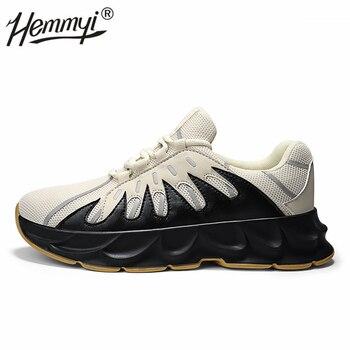 Zapatillas de plataforma para hombre Flyknit transpirable