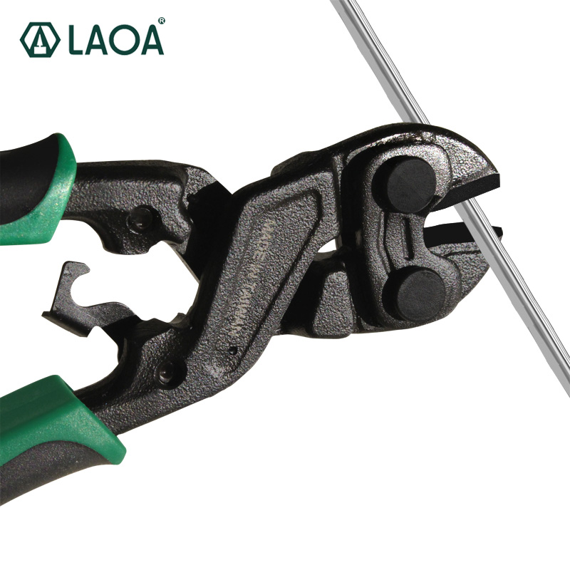 LAOA 8 Inch Bolt Cutters Cr-Mo Steel Wire Cutters Round Nose Scissors 58HRC With Black Coating TreatmentLAOA 8 Inch Bolt Cutters Cr-Mo Steel Wire Cutters Round Nose Scissors 58HRC With Black Coating Treatment