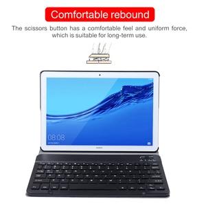 Image 2 - Caso de couro teclado para huawei mediapad m5 10 pro 10.8 CRM AL09 CRM W09 sem fio removível bluetooth capa funda