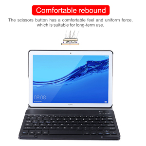 Image 2 - Keyboard Leather Case for Huawei MediaPad M5 10 Pro 10.8 CRM AL09 CRM W09 Wireless Removable Bluetooth Cover Funda