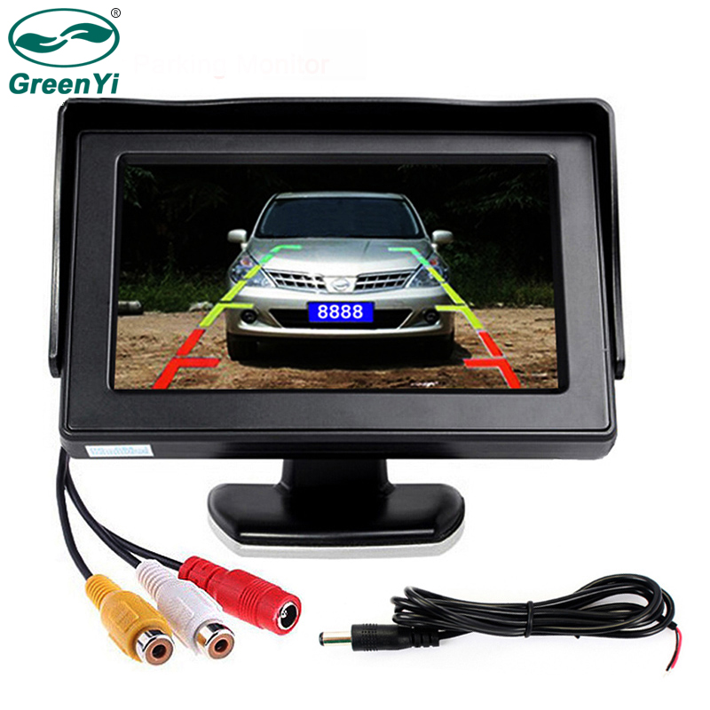GreenYi Wholesale 8PCS Lot 4 3 inch Color LCD Parking Assistance 4 3 Car Monitor with