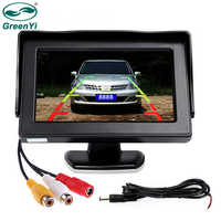 """GreenYi Wholesale 8PCS/Lot 4.3 inch Color LCD Parking Assistance 4.3"""" Car Monitor with 2 Video Input for Rear View Camera"""