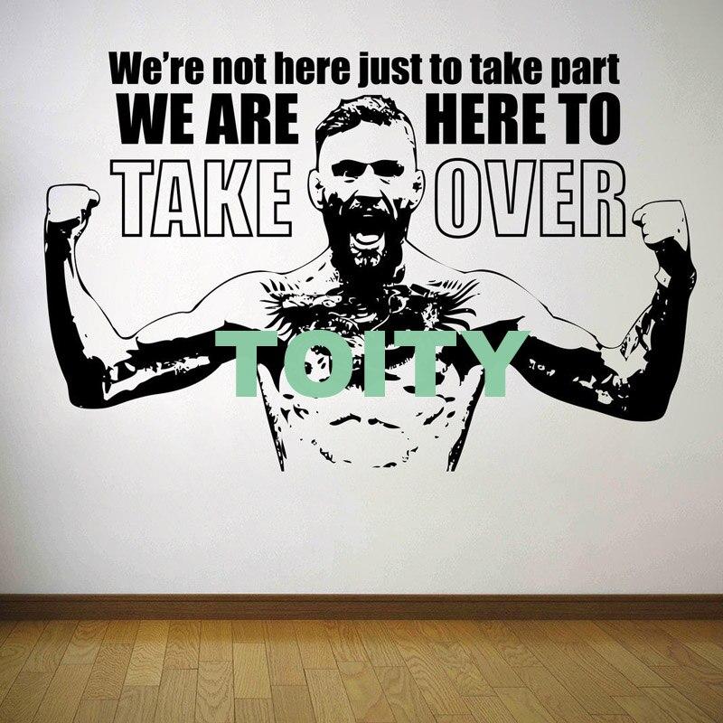 10 Dizayn Conor McGregor Divar Etiketli MMA Mübarizə Boks Vinil - Ev dekoru - Fotoqrafiya 6