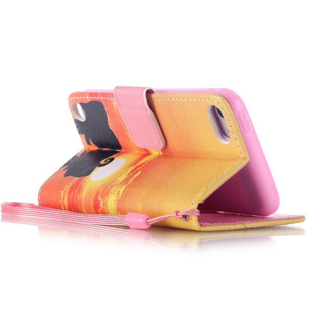 Wallet Flip Case With Stand Holder For Apple iPod Touch 5 touch5 Touch 6 touch6