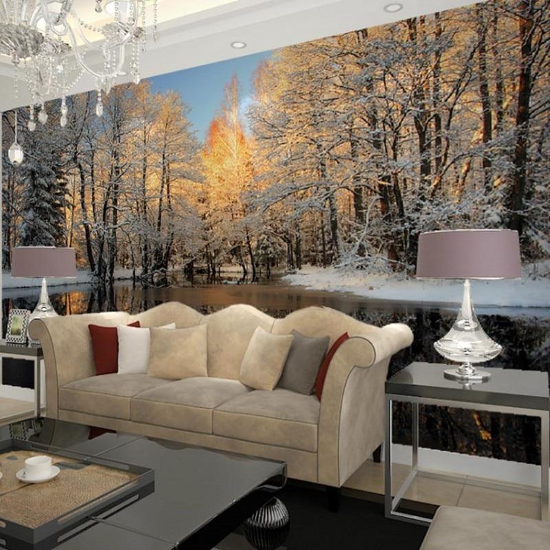 Popular Winter Wall Murals-Buy Cheap Winter Wall Murals Lots From