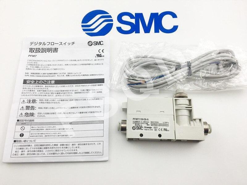 SMC 2-Color Display Digital Flow Switch Vacuum generator Pneumatic components PFM711S-C6-A PFM750S-C6L-A-M PFM series