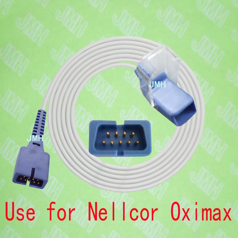 Compatible For Artema,Biosys,Drager,GE,Hellige,HP,Invivo,Nellcor,Datascope Pulse Oximeter Monitor,DEC-8 Spo2 Sensor Adapte Cable