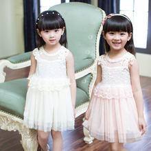 Elegant pink floral chiffon macrame lace toddler birthday princess dress little girl wedding dresses 2015 fancy