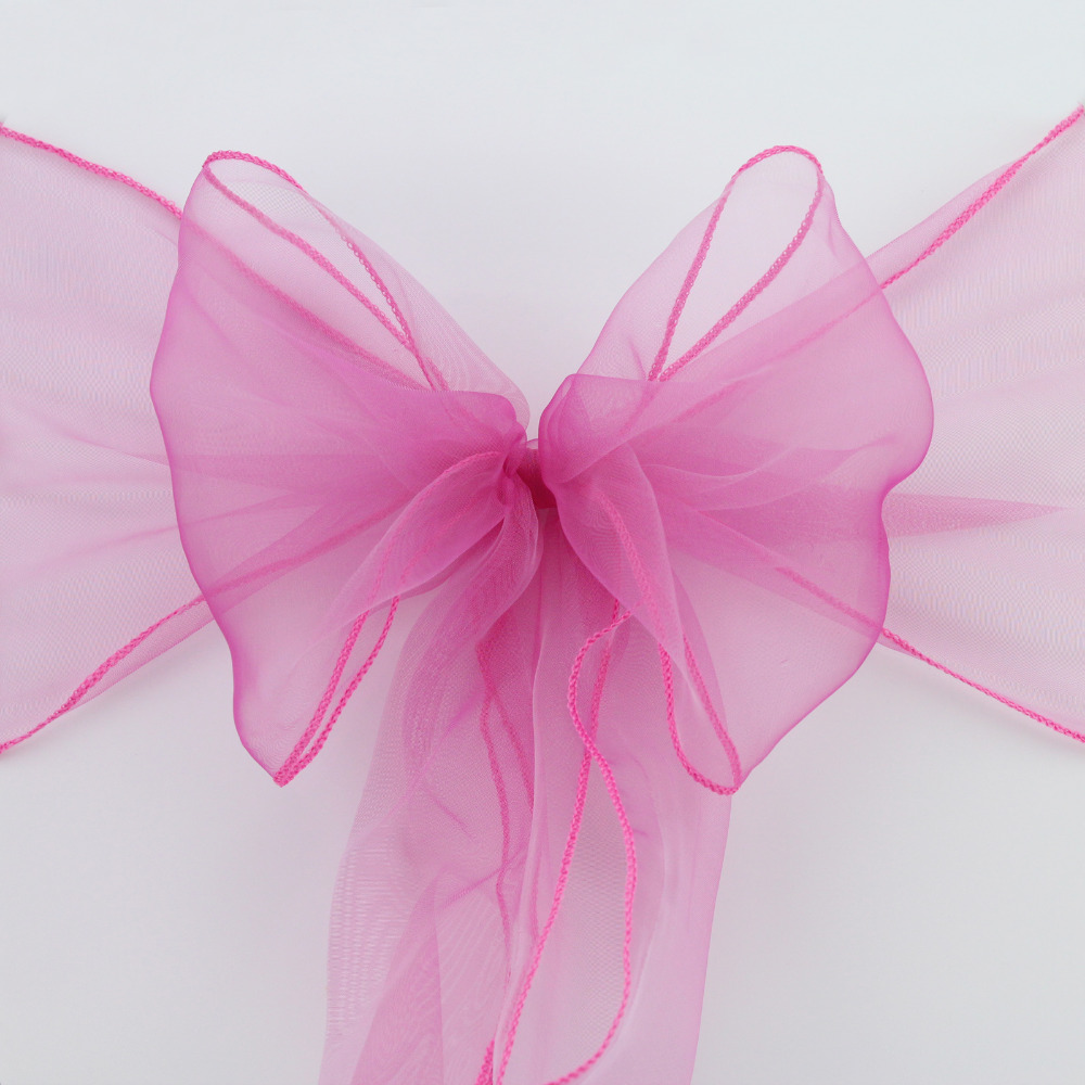 Wedding Decoration 150PCS New Organza Chair Sashes Bow Cover Banquet wedding party chair decoration