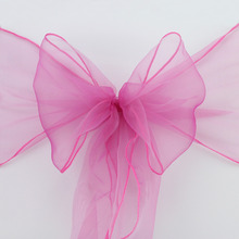 Free shipping 150PCS New Organza Chair Sashes Bow Cover Banquet