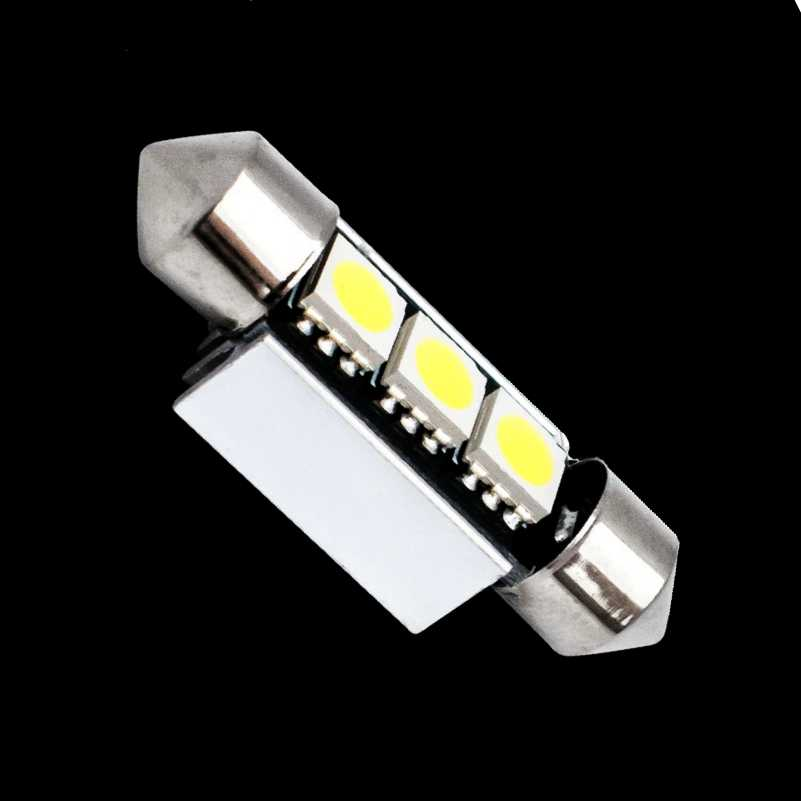 36mm 39mm C10W C5W 3SMD 3 SMD 5050 LED CANBUS Festoon Bulb Car Licence Plate Light Auto Housing Interior Dome Lamp White DC 12V