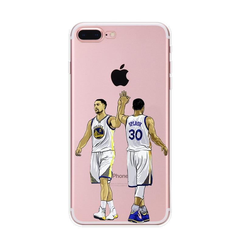16-NIKIKI-LeBron-James-Kobe-Bryant-di-Pallacanestro-Stella-Del-Silicone-Trasparente-Casse-Del-Telefono-Cover-Per