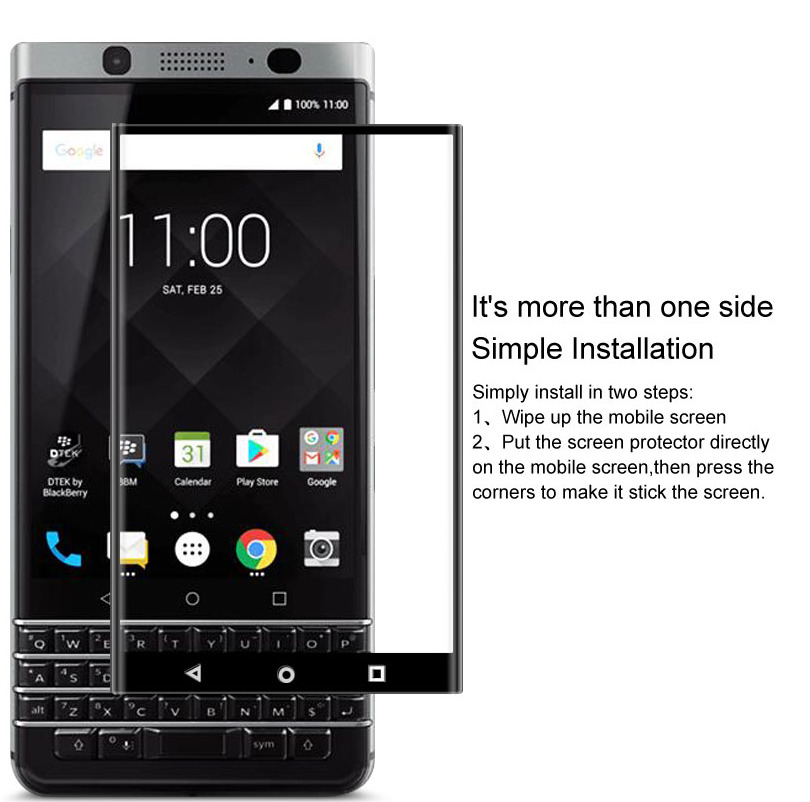 IMAK sfor BlackBerry KEYone Glass Tempered Flim 3D Full Curved Screen Protector For BlackBerry KEYone(China)