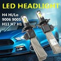 2x H1 H7 H11 9005 HB3 9006 Car LED COB Headlight Bulb Kit Dual Beam H4 6400LM 60W Auto Headlamp Waterproof IP68 DC 9V-30V 6000K
