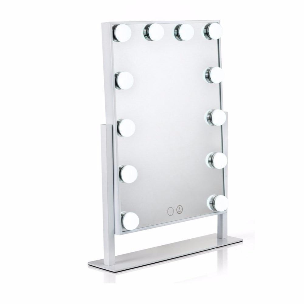 waneway hollywood espejo de vanidad iluminado con luces led para maquillaje de tocador conjunto enchufe iluminado
