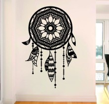 New Arrvied Wall Sticker Vinyl Art Dreamcatcher With Ethnic Wall Decals Home Living Room Art Decoration Wall Mural Y-779 цена и фото