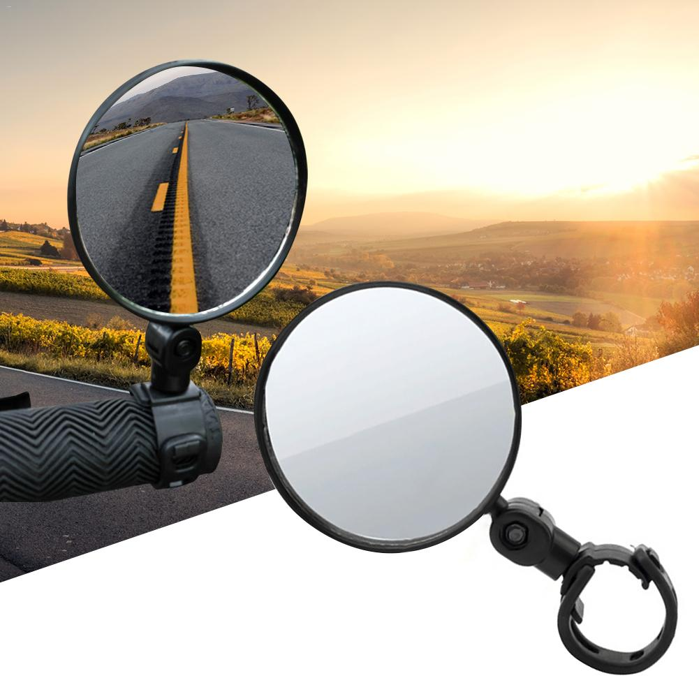 Bicycle Rearview Mirrors Wide-angle Convex Mirror Cycling Rearview Mirrors MTB Rearview Mirrors Silicone Handle